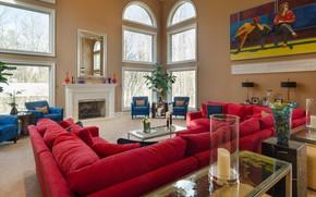 Picture Villa, interior, fireplace, living room, Richmond