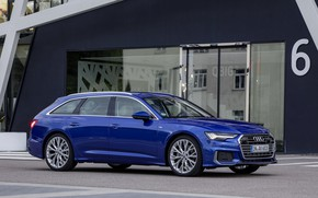 Picture blue, Audi, output, 2018, universal, A6 Avant