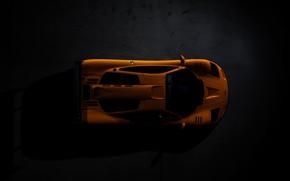 Picture McLaren, black background, the dark background, above, F1LM