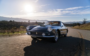 Picture Road, Ferrari, Lights, Classic, Chrome, Classic car, Icon, Grille, Ferrari 400 Superamerica, The Short Wheelbase …