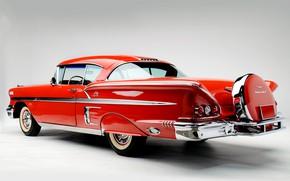 Picture Chevrolet, Classic, Bel Air, Impala, Chrome, Classic car, 1958, Chevrolet Bel Air Impala