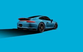 Picture 911, Porsche, Blue, Carrera, VAG, 4GTS