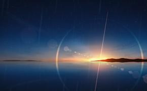 Picture the sky, water, the sun, rain