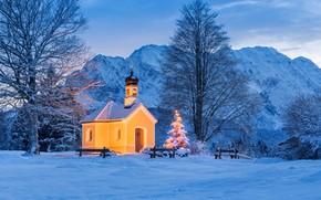 Picture lights, Germany, Bayern, Christmas, KRUN, часовня Марии Раст