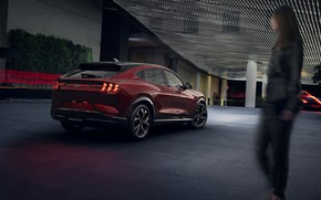 Picture Mustang, Ford, Ford, Mustang, 2020, electric crossover, electric SUV, Ford Mustang Mach-E SUV, sports coupe