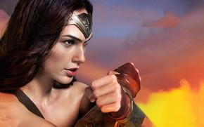 Picture look, girl, pose, hero, Wonder Woman, Gal Gadot, Gal Gadot, Wonder woman