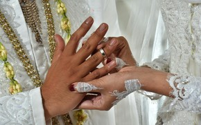 Picture hands, ring, two, wedding