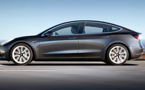 Picture Tesla, electric, model 3