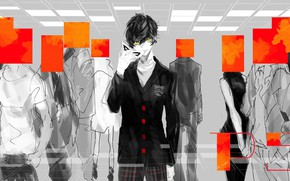 Picture people, the game, anime, art, guy, character, Person 5, Persona 5