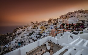 Picture sunset, home, Greece, panorama, OYA