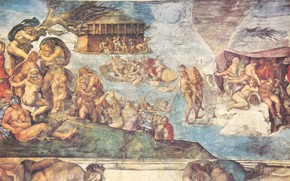 Picture Michelangelo Buonarroti, Defending, Images of Noah's Flood and Other Biblical Ones