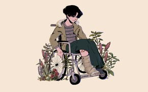 Picture guy, manga, wheelchair, To kill a Stalker, Young Boom, Killing Stalking, Killing Seutoking