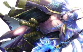 Picture weapons, fantasy, horns, guy, Yasha, Onmyouji, Onmyoji, Onmyouji (NetEase)