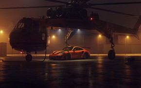 Picture 911, Porsche, 2018, helicopter, GT2 RS