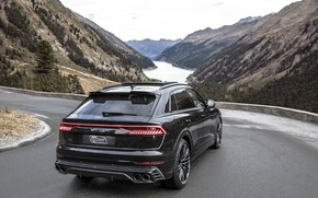 Picture mountains, Audi, TDI, rear view, crossover, ABBOT, 2019, SQ8
