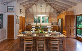 Picture interior, kitchen, dining room, Lalamilo Beach House