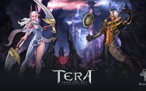 Picture girl, guy, demons, Tera
