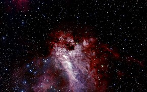 Picture Chili, The Chair, Messier 17, Constellation of Sagittarius, The Omega Nebula, Star Forming Region, H …
