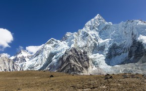 Picture mountains, tops, Everest, Nepal, Nuptse