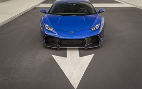 Picture Lamborghini, Blue, Arrow, VAG, Huracan, Novara