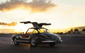 Picture Classic, Retro, Mersedes Benz 300SL, Gull-wing