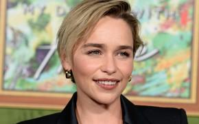 Picture look, pose, smile, portrait, actress, brunette, photoshoot, smile, view, hair, brunette, Emilia Clarke, pose, actress, …