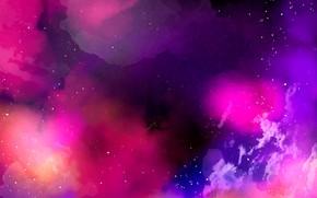 Picture stars, glare, watercolor