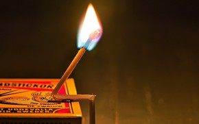 Picture fire, box, match
