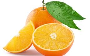 Picture leaves, orange, the cut, citrus, the fruit