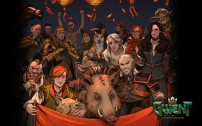 Picture card, the witcher, the Witcher, characters, Geralt, Zoltan, CDProjekt RED, CRIS, Yennifer, Triss, Shani, Gwent, …