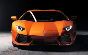 Picture Auto, Machine, Orange, Car, Lamborghini Aventador, Sportcar, Transport & Vehicles, by Chris Davis, Chris Davis