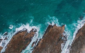 Picture sea, water, landscape, nature, rocks, shore, the view from the top