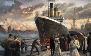 Picture people, art, steamer, painting, titanic, Titanic