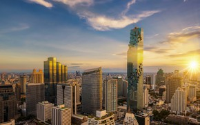 Picture the city, building, beauty, Thailand, Bangkok, Thailand, skyscraper, Bangkok