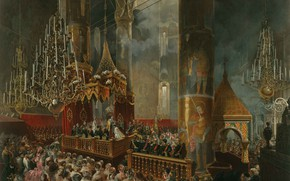 Picture chandeliers, Mihály Zichy, The Coronation Of The Empress