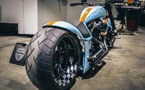 Picture Harley Davidson, Harley-Davidson, Custom, Motorbike, Thunderbike, By Thunderbike, Gulf Edition