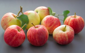 Picture leaves, background, apples