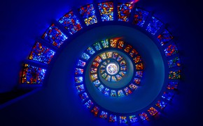Picture spiral, stained glass, spiral, stained glass, Michael Zheng
