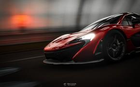 Picture Red, Auto, Machine, Red, Car, Supercar, McLaren P1, Game Art, Forza Horizon 4, Transport & …