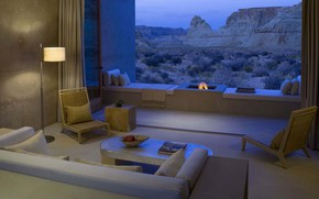Picture room, interior, AZ, the hotel, hearth, living room, Beautiful Amangiri Resort and Spa