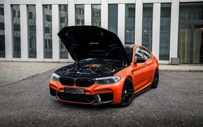 Picture BMW, G-Power, BMW M5, under the hood, 2020, M5, F90, G5M Hurricane RS