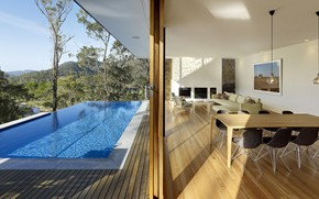 Picture interior, pool, terrace, living room, dining room, St Alban's House