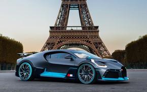 Picture Paris, Bugatti, Eiffel tower, supercar, 2018, hypercar, Divo