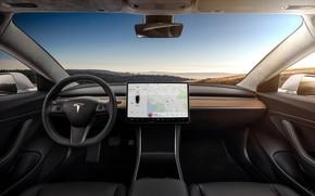 Picture interior, Tesla, model 3