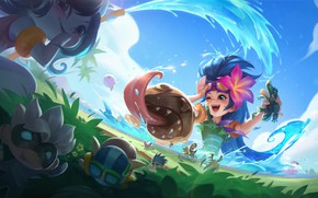 Picture girls, wave, League Of Legends, Zoe
