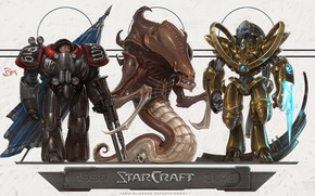 Picture art, starcraft, zerg, Zerg, strategy, marine, protoss, anniversary, protos, marrine