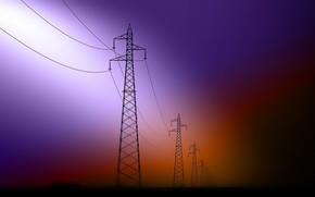 Picture form, color, power lines