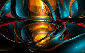 Picture abstraction, pattern, 3D graphics