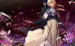 Picture male, girl, Violet Evergarden