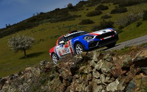Picture stones, slope, rally, 2018, Abarth, 124 Rally